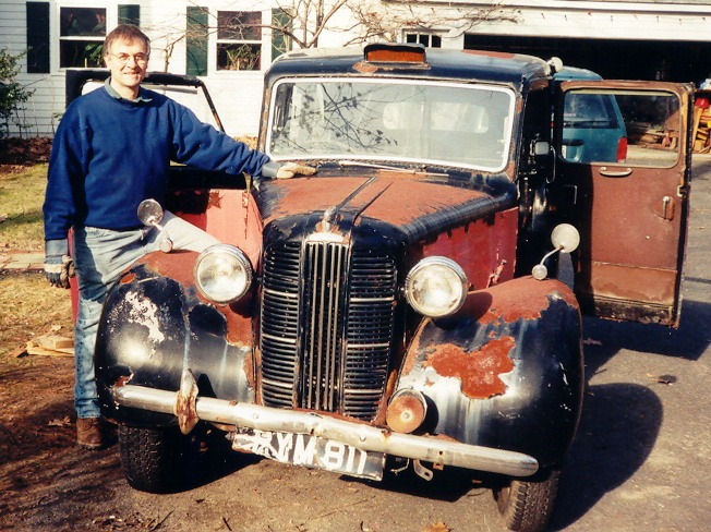 Members' cabs - Much work to do! Austin FX3, 'Sir Leslie' arrives home in New England