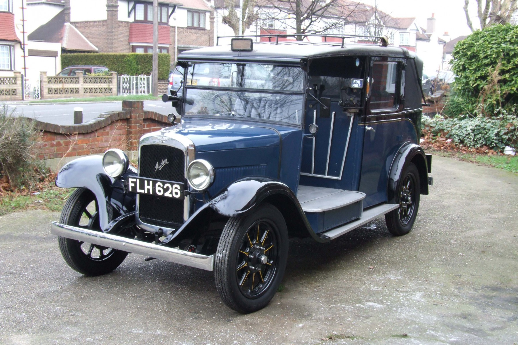 Probably the finest example of a Strachan-bodied Austin 12/4 Low Loader