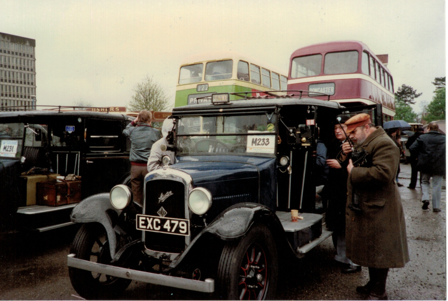 A stop for refreshments on an HCVS Brighton run in the early 1990s