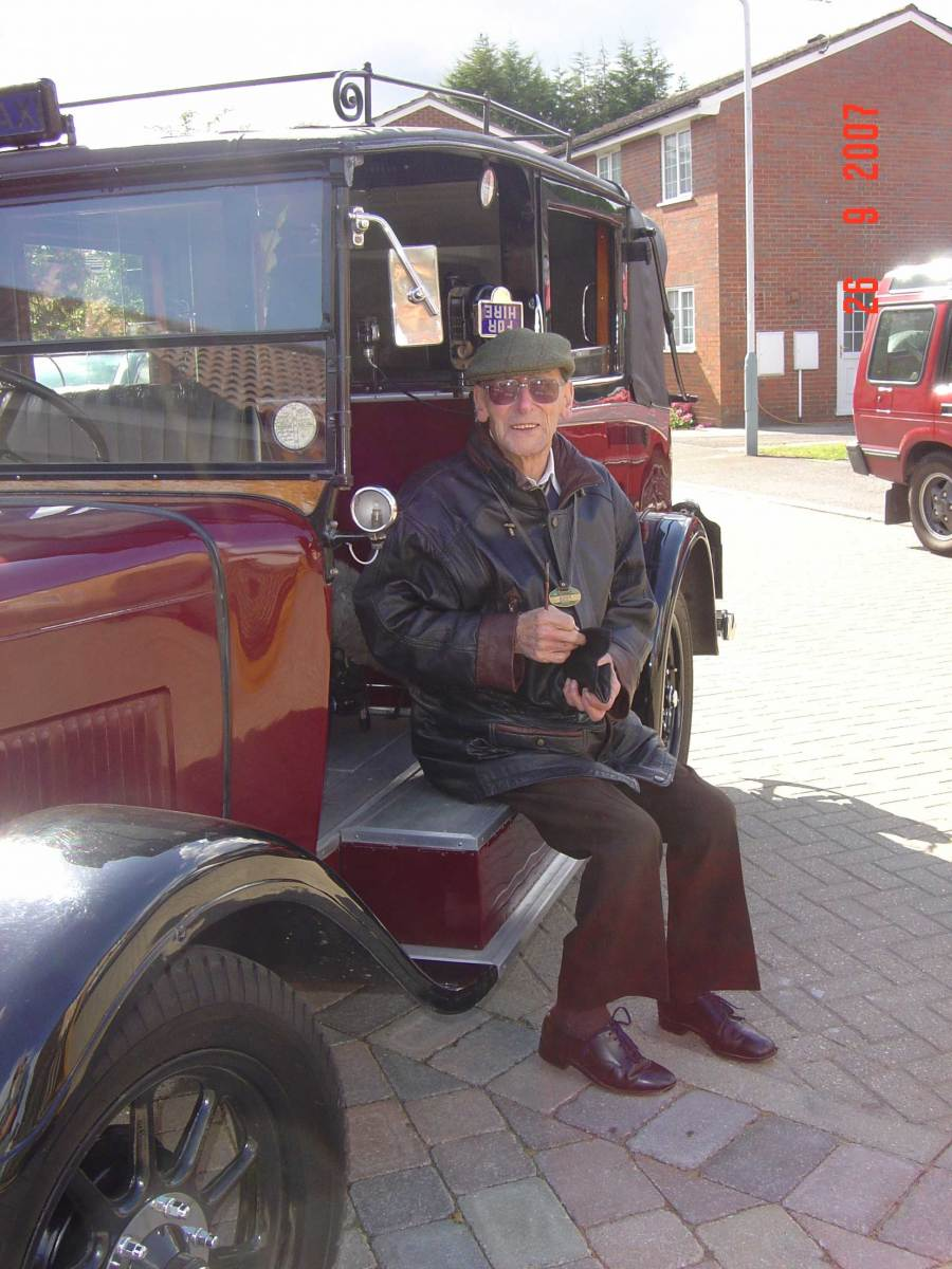 Beardmore Motors legend the late Roy Perkins Roy takes a break when filming