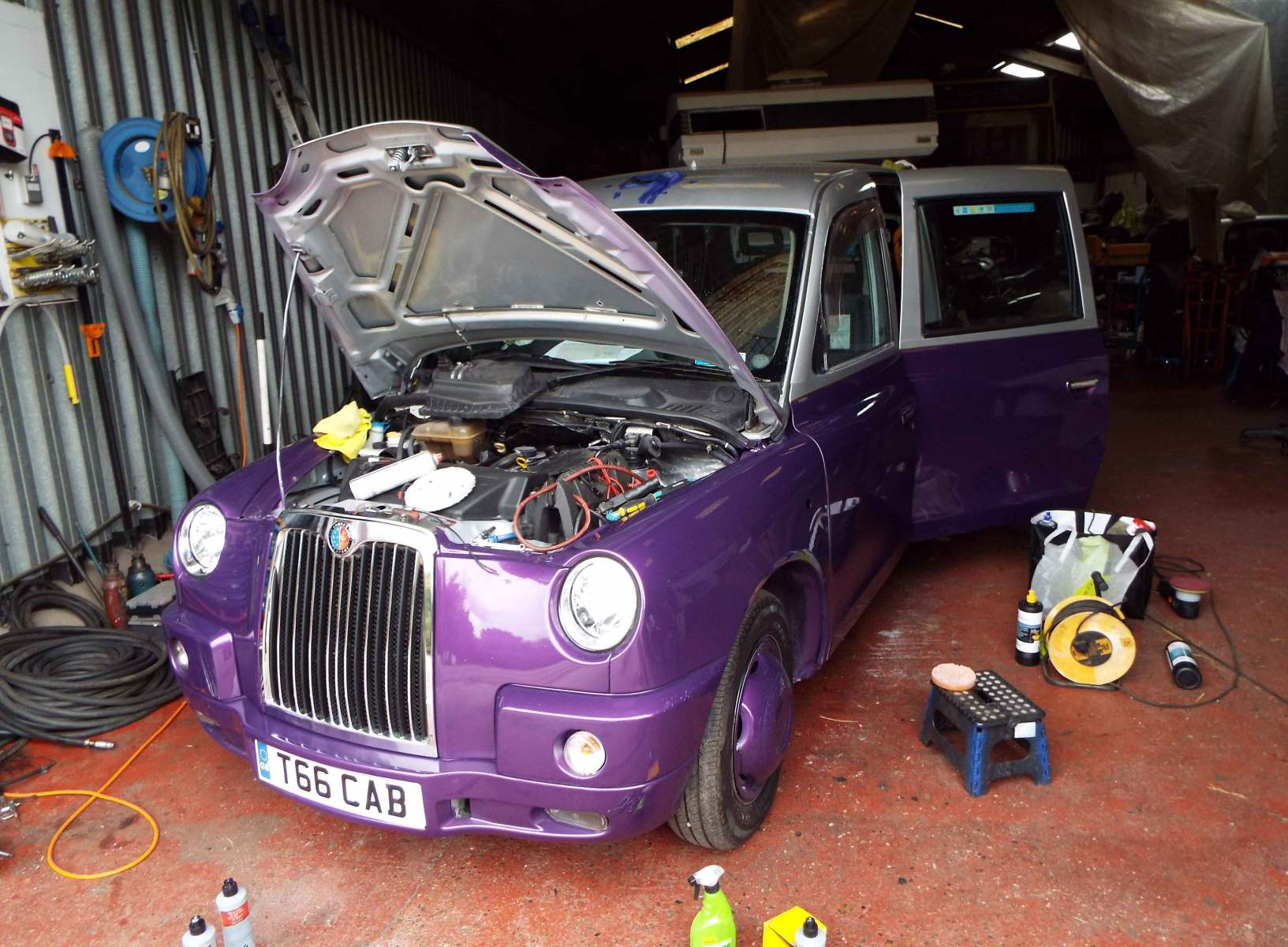 Who says a London cab has to be black? Restoration takes many guises